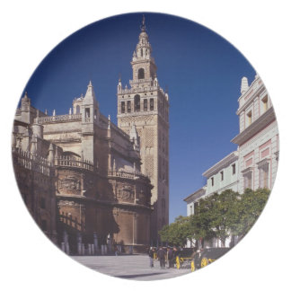 Assiette La Giralda de Séville, Espagne  