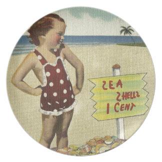 Assiette La rétro mer vintage écosse la Floride