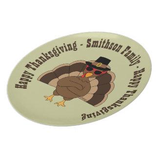 Assiette La Turquie fraîche avec le bon thanksgiving de