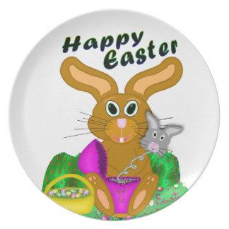Assiette Lapin de Pâques