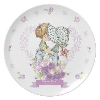 Assiette Lavande du plat #3 de porcelaine de Sarah Kay