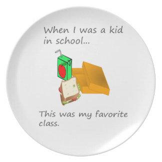 Assiette Le déjeuner était ma classe préférée