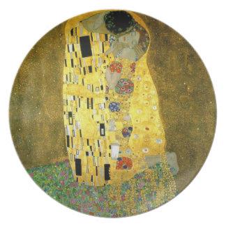 Assiette Le ~ Gustav Klimt de baiser