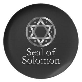 Assiette Le joint de Solomon- un symbole ou un Hexagram