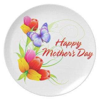 Assiette Le jour de mère heureux 7