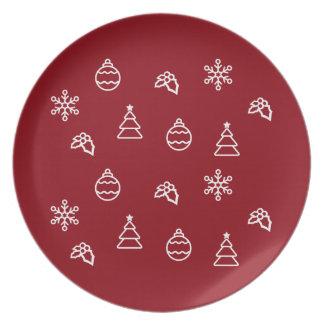 Assiette Le motif I de Noël