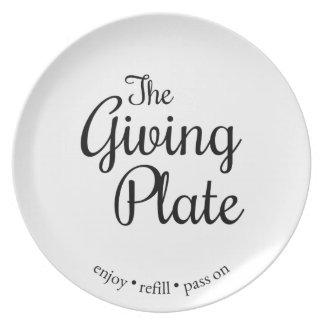 Assiette Le plat donnant - version simple