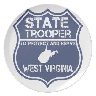 Assiette Le soldat de la cavalerie d'état de la Virginie