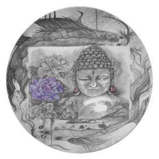 Assiette Le souhait de Bouddha
