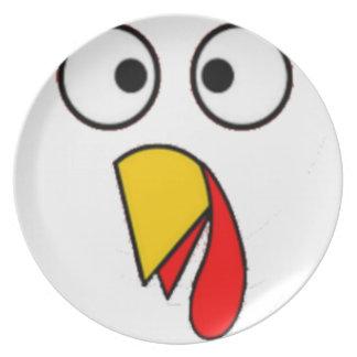 Assiette Le thanksgiving Turquie font face au tee - shirt