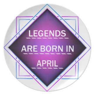 Assiette Les légendes sont nées en avril