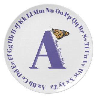 Assiette Lettre A de plat d'alphabet…