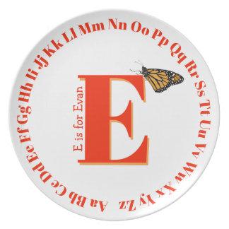 Assiette Lettre E de plat d'alphabet…