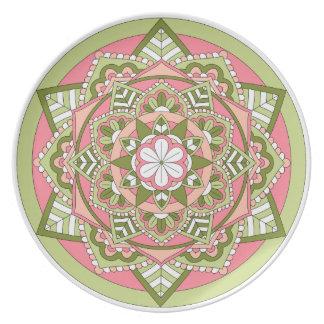 Assiette Mandala floral coloré 061117_1