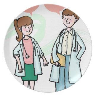 Assiette Médecins Talking