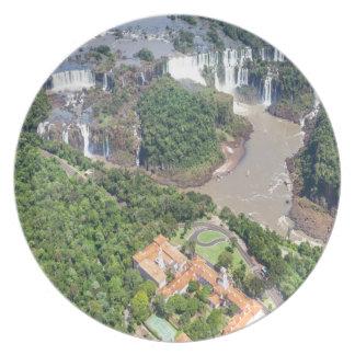 Assiette mélamine Chutes d'Iguazú