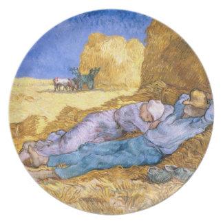 Assiette Midi de Vincent van Gogh |, la sièste, après