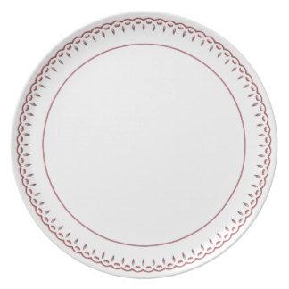 Assiette Minimaliste en filigrane et blanc d'or rose