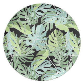 Assiette Motif floral de jungle