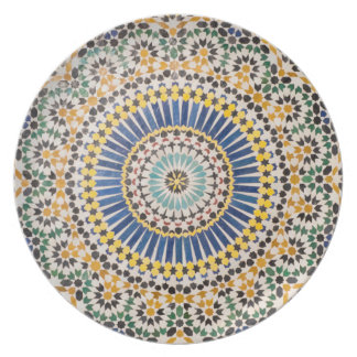 Assiette Motif géométrique de tuile, Maroc