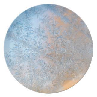 Assiette Motif sensible de gel, le Wisconsin