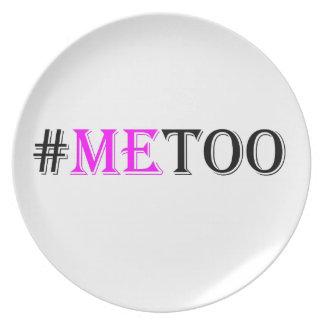 Assiette Mouvement de #METOO pour des droits de la femme et