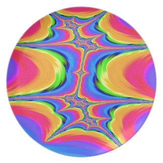 Assiette Mouvements de fractale d'existence