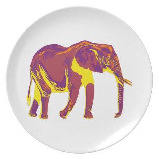Assiette Mouvements d'éléphant