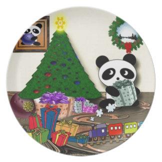 Assiette Noël de panda