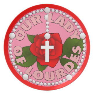 Assiette Notre Madame de Lourdes