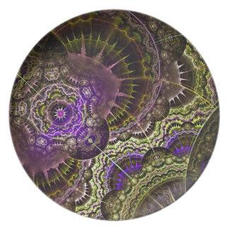 Assiette Nouvelle copie acrylique d'art abstrait