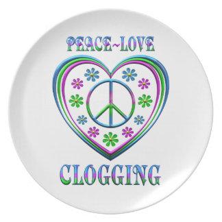 Assiette Obstruer d'amour de paix