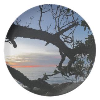 Assiette Océan et arbres