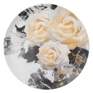 Assiette Odeur de Jitaku le plat de mélamine de roses