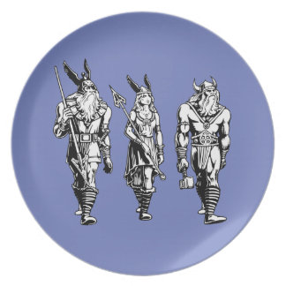 Assiette Odin, Freyja et Thor