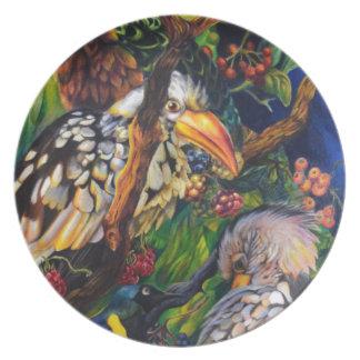 Assiette Oiseaux de jungle