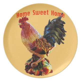 Assiette Or doux à la maison de coq de ferme