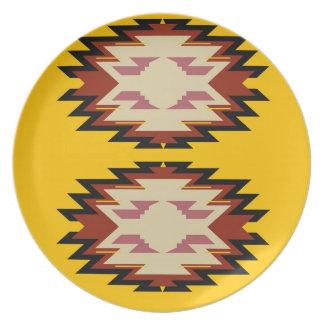 Assiette Or exotique d'Aztèques de conception