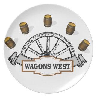 Assiette ot occidental de chariots