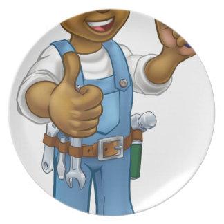 Assiette Outil de truelle de travailleur de la construction