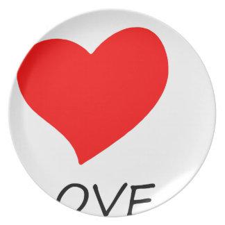 Assiette paix love16