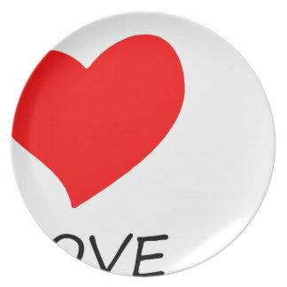 Assiette paix love24