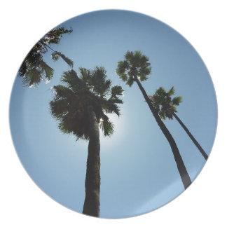 Assiette Palmiers Los Angeles Hollywood Etats-Unis