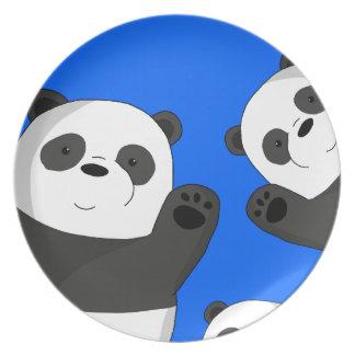 Assiette Pandas mignons