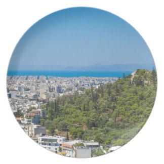 Assiette Panorama d'Athènes, Grèce