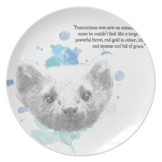 Assiette Pantalaimon, le démon de Lyra de ses matériaux