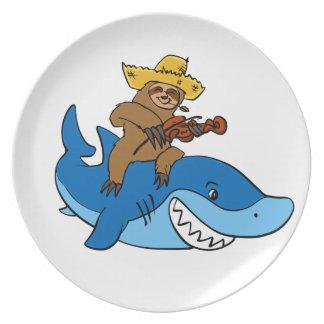 Assiette Paresse de plouc montée sur le requin