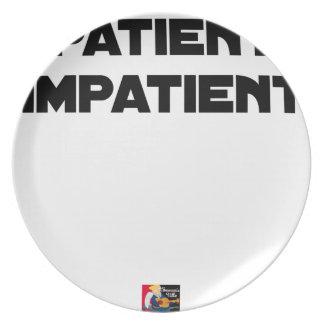 Assiette PATIENT IMPATIENT - Jeux de mots - Francois Ville