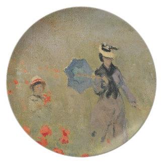 Assiette Pavots sauvages de Claude Monet |, près