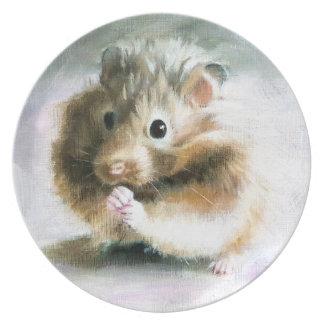 Assiette Peinture à l'huile de hamster par le plat de Kate